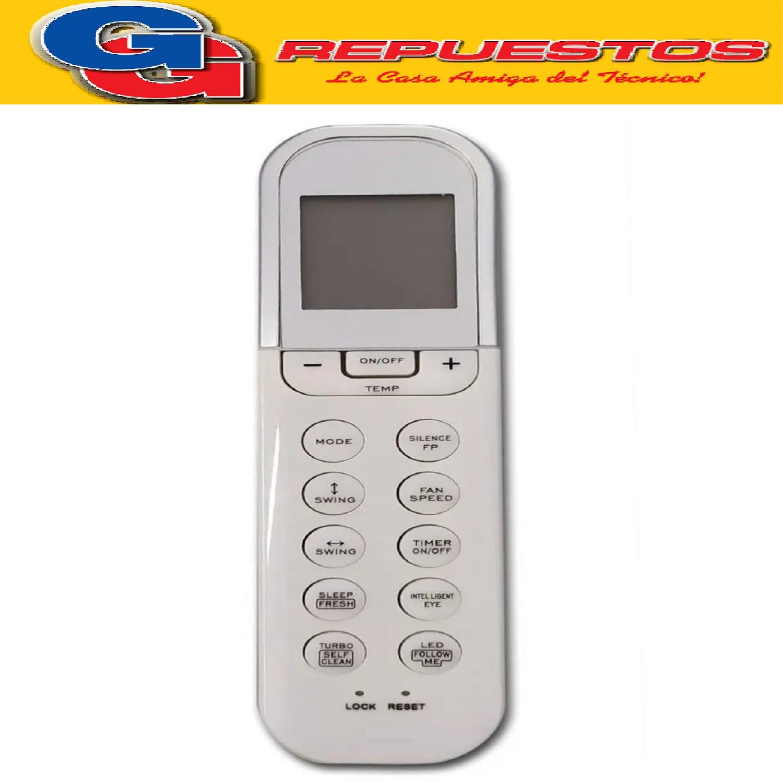 CONTROL REMOTO AIRE ACONDICIONADO SPLIT AR815 BGH RG36A/BGEF AR807 , A701