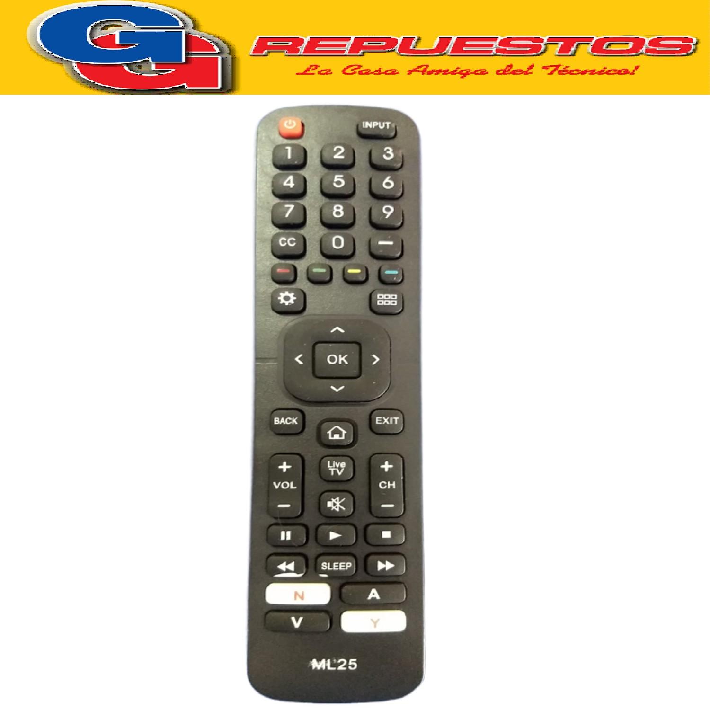 CONTROL REMOTO LCD LED SMART HISENSE TONOMAC  3861 EN2H27 NOBLEX BGH