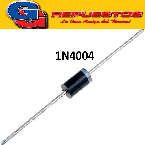 1N4004 - DIODO RECTIFICADOR 1A  400V