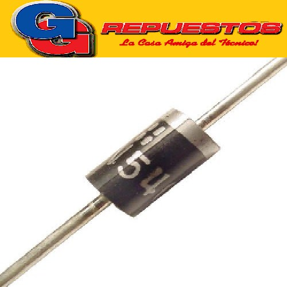 1N5408 DIODO RECTIFICADOR 3A 1000V