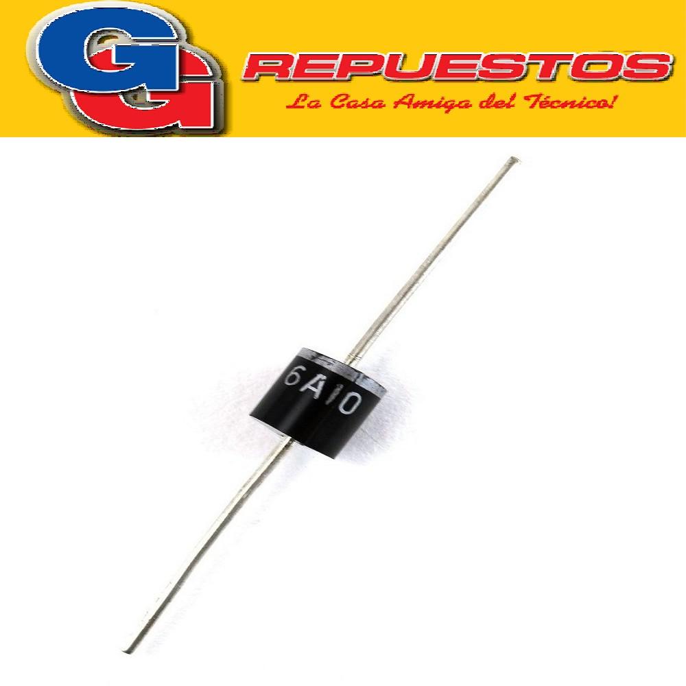 6A10 - DIODO RECTIFICADOR 6A 1000V 6A10