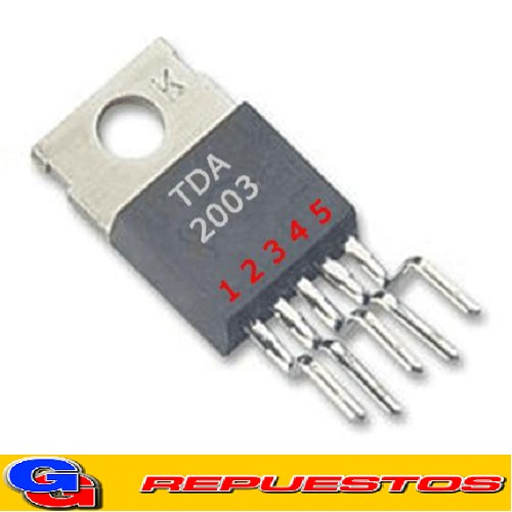 TDA2003 / 2003V / 2003H CIRCUITO INTEGRADO AMPLIFICADOR DE AUDIO 1X10W 4ohm/3.5A