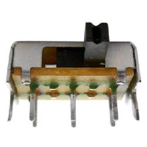 LLAVE SELECTORA DESLIZABLE MINI SK22DO3VG4 LARGO 13 mm ANCHO 7 mm ALTO SIN PINES 5 mm , PALANCA DE 2 X2 mm , LARGO PALANCA 4  mm
