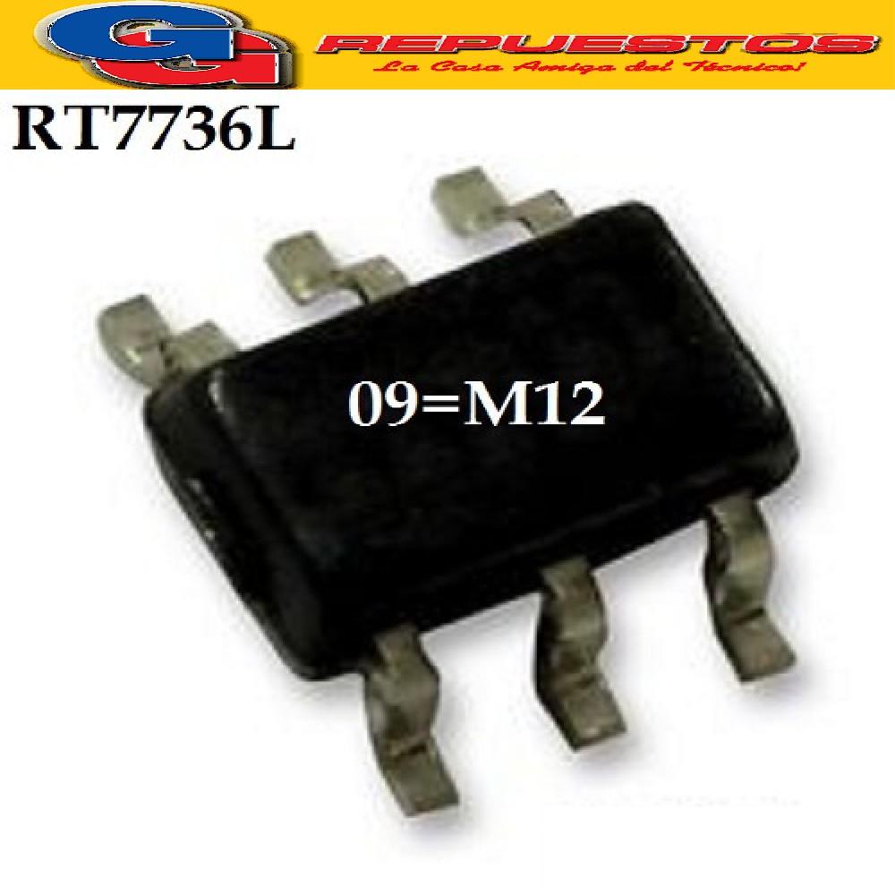 RT7736L CIRCUITO INTEGRADO -SMD- /CODE:09=M12/ (9V-15V/300MA/65KHZ/100mW)