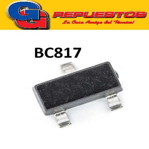 BC817-25 TRANSISTOR NPN BIPOLAR 500MA  45V 250MW (SOT-23) SMD