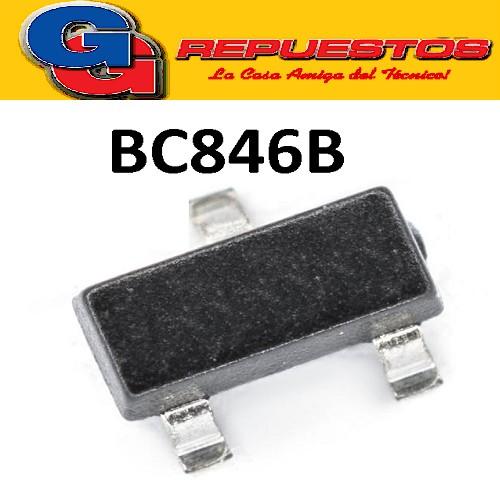 BC846B TRANSISTOR NPN BIPOLAR 100MA  65V 250MW (SOT-23) SMD