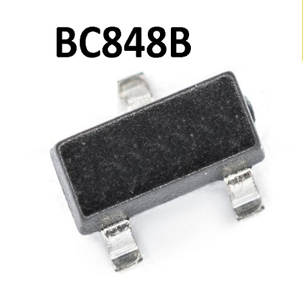 BC848B TRANSISTOR NPN BIPOLAR 100MA  30V 250MW (SOT-23) SMD