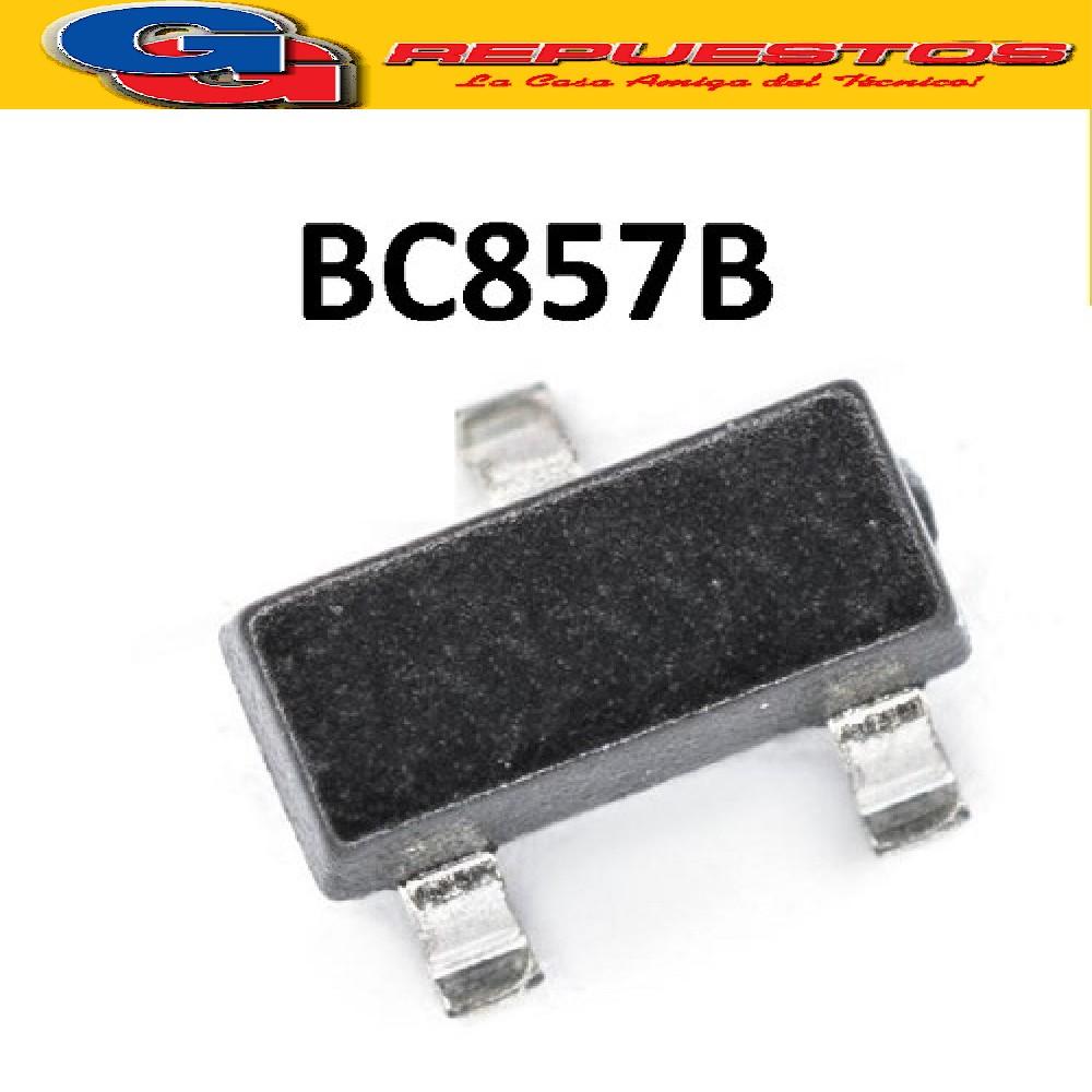 BC857B TRANSISTOR PNP BIPOLAR 100MA  45V 250MW (SOT-23) SMD