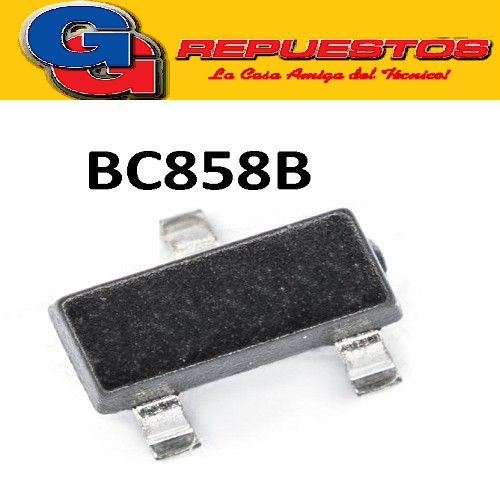 BC858B TRANSISTORES PNP BIPOLAR 100MA  30V 250MW (SOT-23) SMD