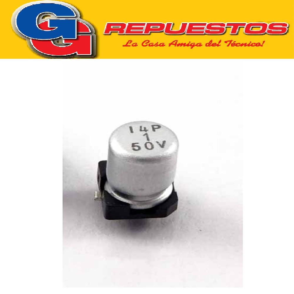 CAPACITOR ELECTROLITICO SMD 1uFX50V (4 x 5.4mm)