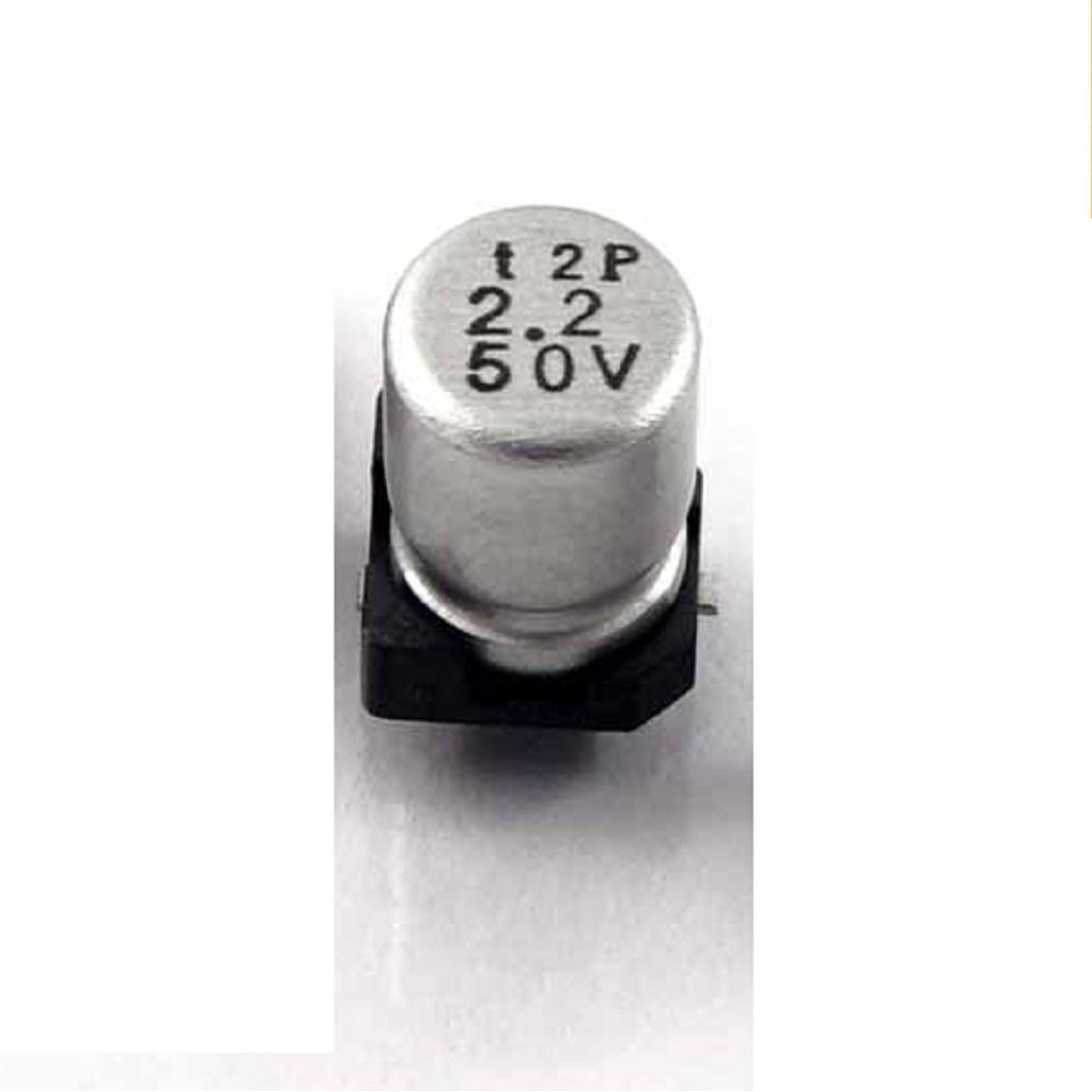 CAPACITOR ELECTROLITICO SMD 2.2uFX50V (4 x 5.4mm)