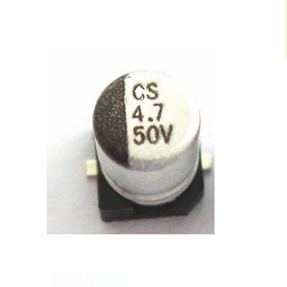CAPACITOR ELECTROLITICO SMD 4.7uFX50V (5 x 5.4mm)