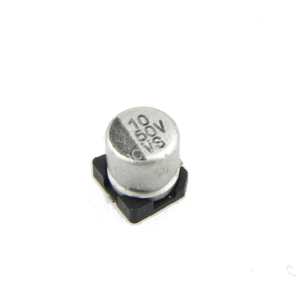 CAPACITOR ELECTROLITICO SMD 10uFX50V (6.3 x 5.4mm)