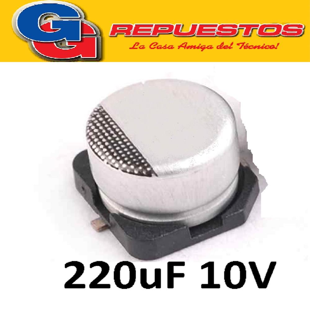 CAPACITOR ELECTROLITICO SMD 220uFX10V (6.3 x 5.8mm)