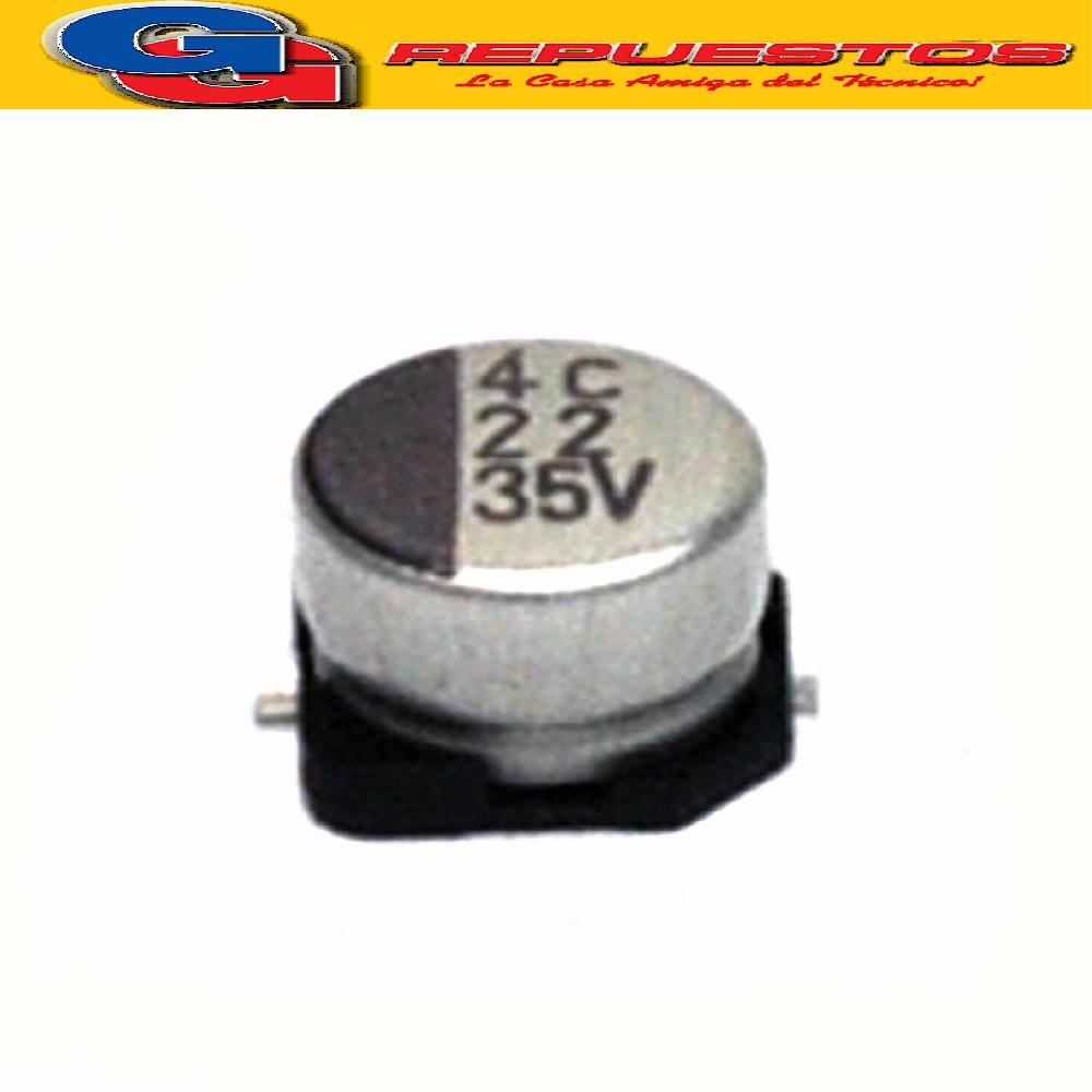 CAPACITOR ELECTROLITICO SMD 22uFX50V (6.3 x 5.4mm)