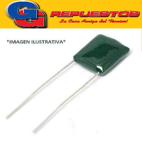 CAPACITOR POLIESTER MYLAR 100NFX100V P=6.5mm 2A104 0.10 UF