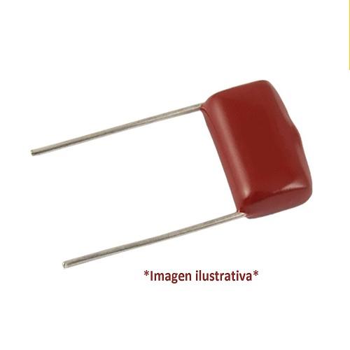 CAPACITOR POLIPROPILENO Metalizado 0.001uFX630VDC (Paso=10mm) 102 2J