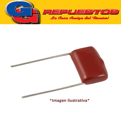 CAPACITOR POLIPROPILENO Metalizado 0.1uFX275VAC (X2) P=15mm 104