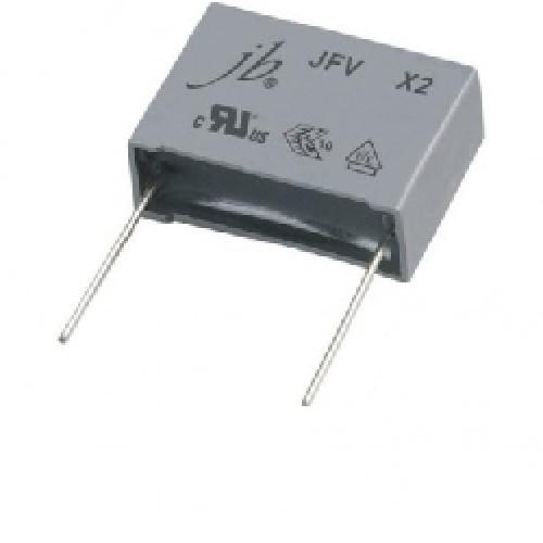 CAPACITOR POLIPROPILENO Metalizado 0.47uFX275VAC (X2) P=22.5mm 474