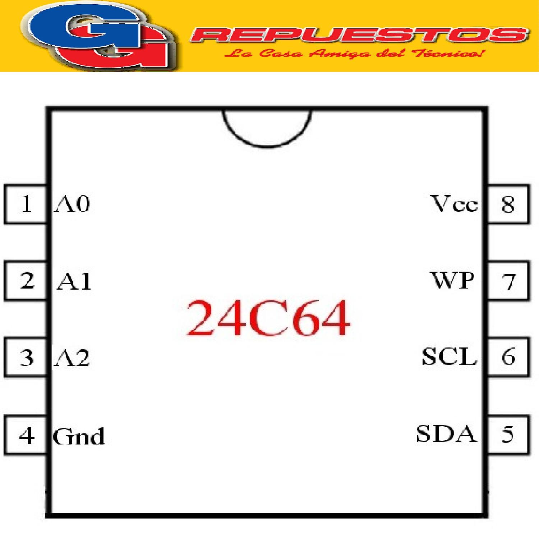 24C64 SMD CIRCUITOS INTEGRADOS MEMORIA EEPROM