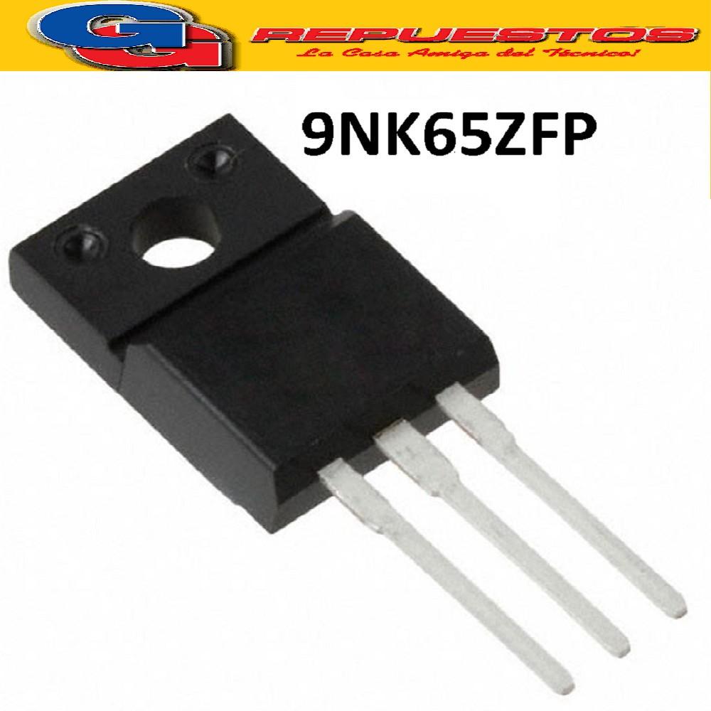 9NK65ZFP TRANSISTOR FET CANAL N 650V / 6.4A / 30W-125W / <1.2R