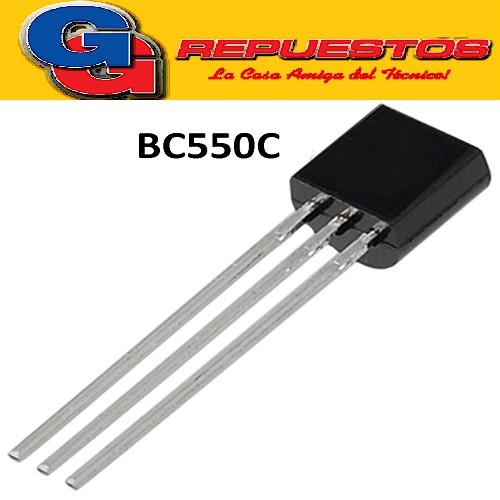 BC550C TRANSISTOR NPN 45V/100mA/625mW