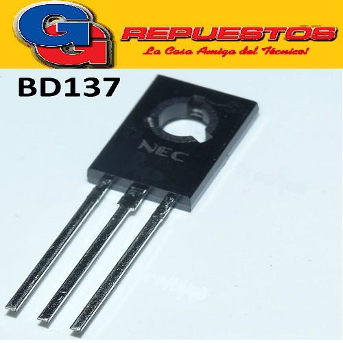 BD137 TRANSISTOR NPN 60V/1.5A/12.5A