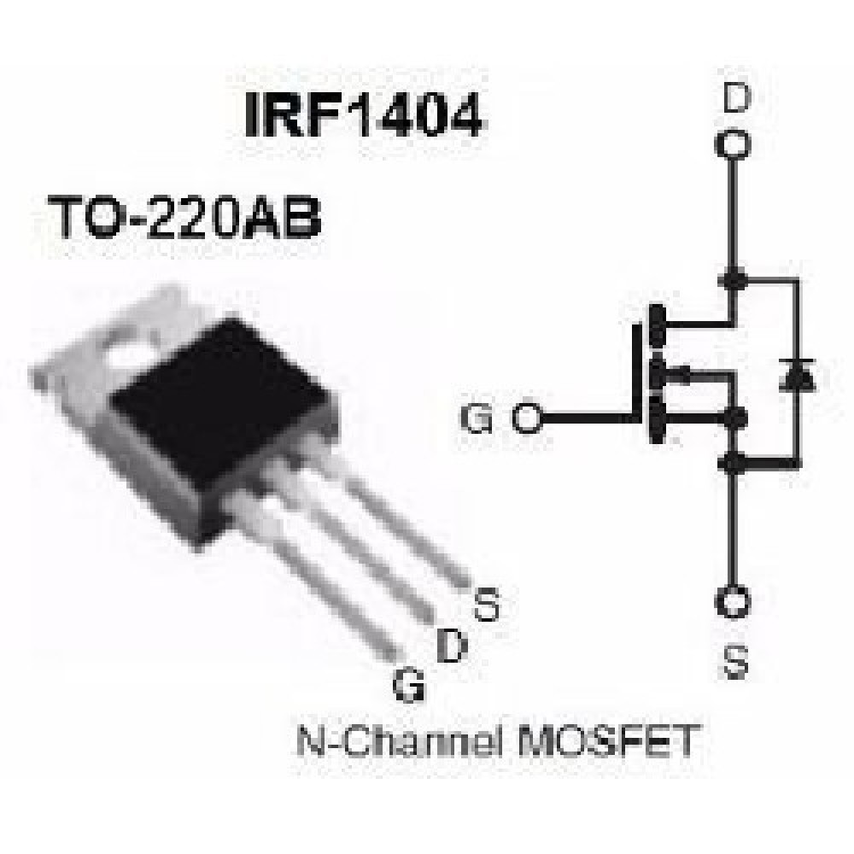 TRANSISTOR IRF1404 40V/162A/4mR = IRL2203NPBF