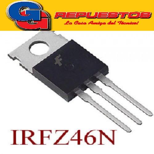 TRANSISTOR FET IRFZ46N HEXFET® MOSFET 55V/53A/16.5mR= STp55nf06