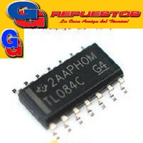TL084CDT - OPERCIONAL CUADRUPLE J-FET (SMD) CIRCUITO INTEGRADO