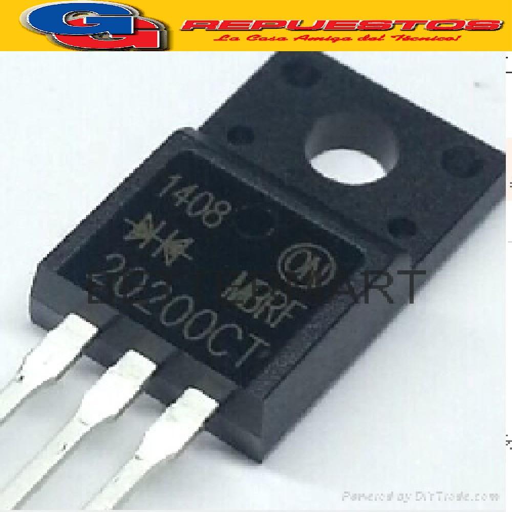 CIRCUITO INTEGRADO MBRF20200CT DOBLE DIODO RECTIFICADOR SCHOTTKY 200V/20A