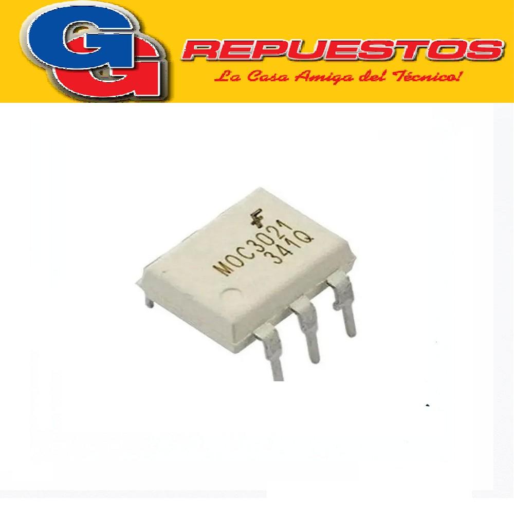 OPTO ELECTRONICA MOC3021 OPTOACOPLADOR TRIAC Vaisla=7500Vac(pk)