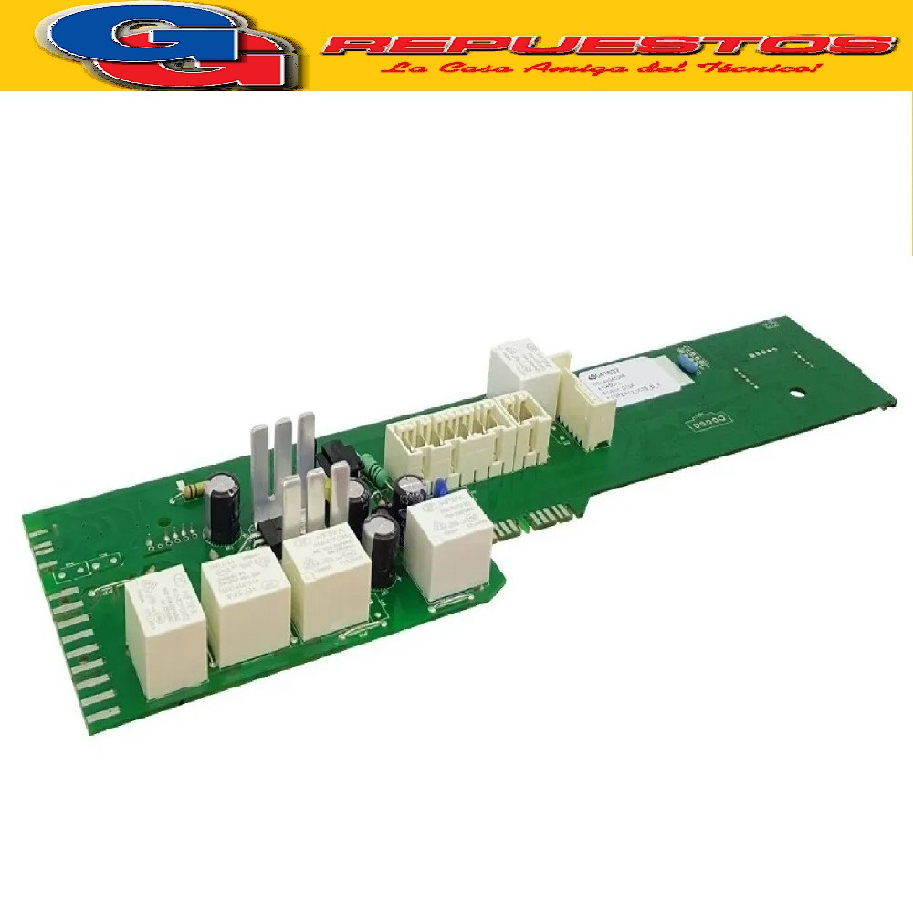 PLACA ELECTRONICA LAVARROPAS CANDY GVS108T12 GRAND O VITA 35cm diam (PLAQUETA P/DISPLAY DIGITAL ORIGINAL VISOR TOUCH) UNIPLACA SETEO C/CELULAR LAVARROPA FRONT 61 L - 1000 SILITECH Tambien puede llevar el codigo de grabado 49041625 Cod.Origen: 49041883 (CANDY GIAS) serie 31008694 41045072 (CANDY GIAS) Tarjeta Electronica NFC No Programada / Reemplazada 43020392 (CANDY GIAS) Tarjeta Electronica NFC No Programada /Reemplazo Produttore:
