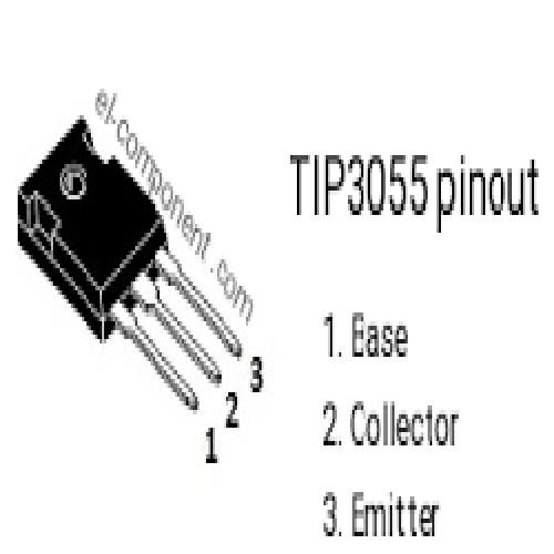 TIP3055 SGS TRANSISTOR DE POTENCIA NPN 100V/15A/90W COMPLEMENTARIO TIC2955