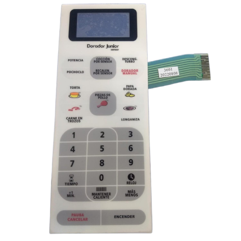 TECLADO MICROONDAS MD219 PANASONIC NNG55AR 3601 8 CM ANCHO  20.5 CM  ALTO