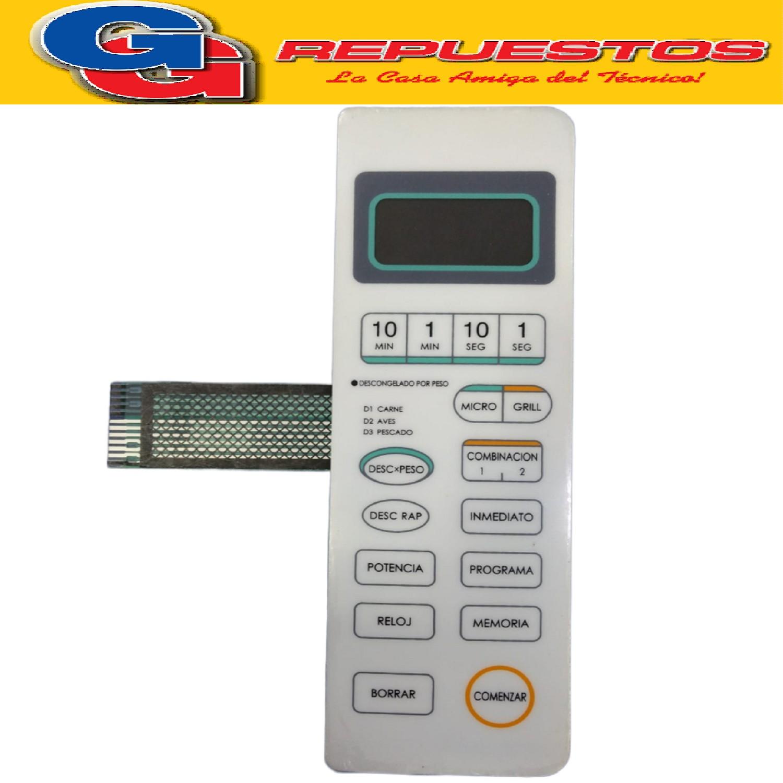 TECLADO MICROONDAS MD107 WD800AL2311 TOP HOUSE 2904