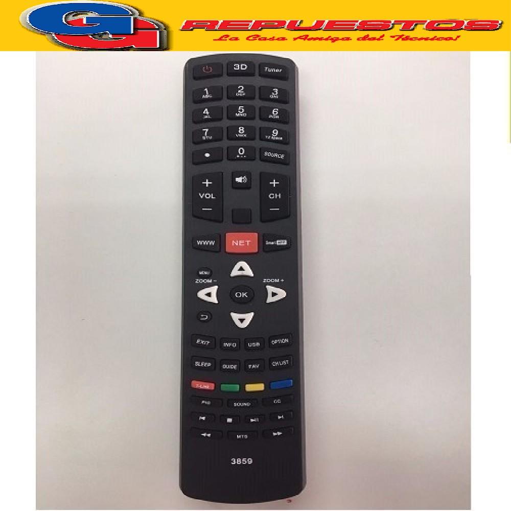 CONTROL REMOTO LED SMART TCL/JVC 3848 TCL / HITACHI / JVC / NOBLEX / SANYO / PHILCO R6848= R6859=R5320=3849=3859