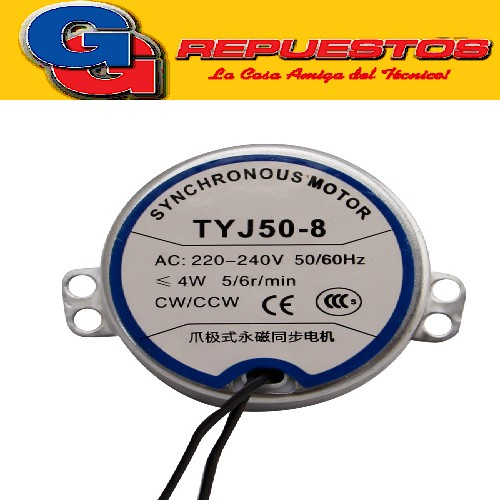 MOTOR SWING SPLIT TYJ50-8  220V  5/6 RPM Motor Paso A Paso Swing Para Flap De Split Sm021 Tyj50 8 MEDIDAS DEL CUERPO DEL MOTOR DIAMETRO 49 mm ALTO 20.5 mm