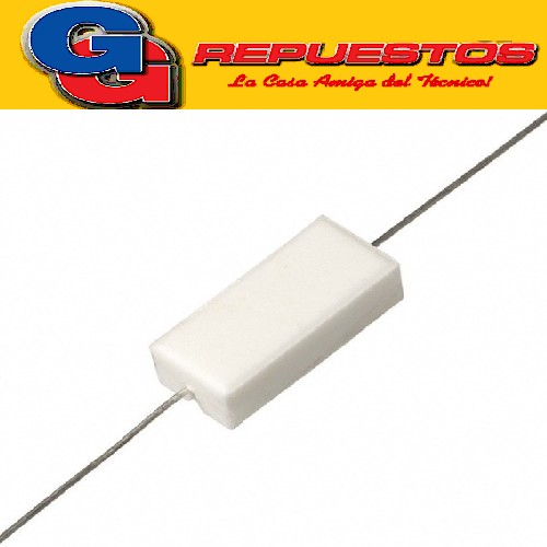 RESISTENCIA CERAMICA BLANCA 2W 0.1 OHM 0.1R