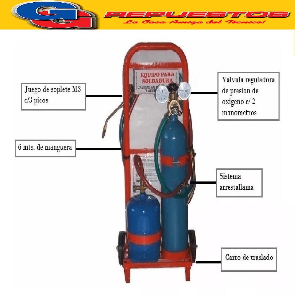 EQUIPO DE SOLDAR OXIGAS DE 1 KG GAS Y 1/2 MT OXIGENO  PRO