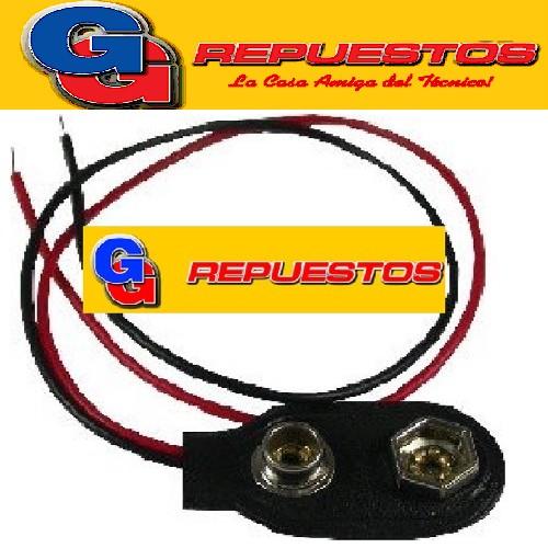 CLIP CONECTOR PARA BATERIA 9 V C/chicote de cable