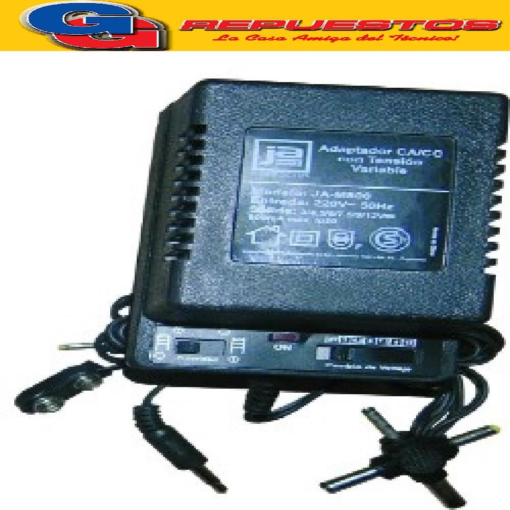 FUENTE TENSION VAR 800MA JA-M800 MULTIPLE ENTRADA 220V CON CAMBIO DE POLARIDAD  SALIDA SELECCIONABLE 3V 4.5 V 6V  7.5 V 9V 12 V