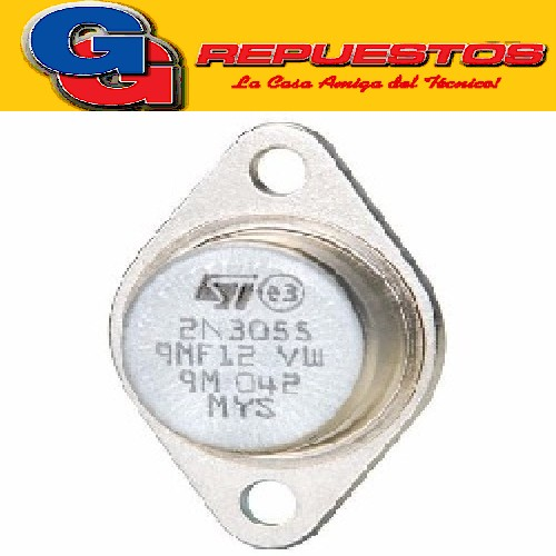 2N3055 TRANSISTOR NPN TO-3 (100V-15A-115W) COMPLEMENTARIO MJ2955