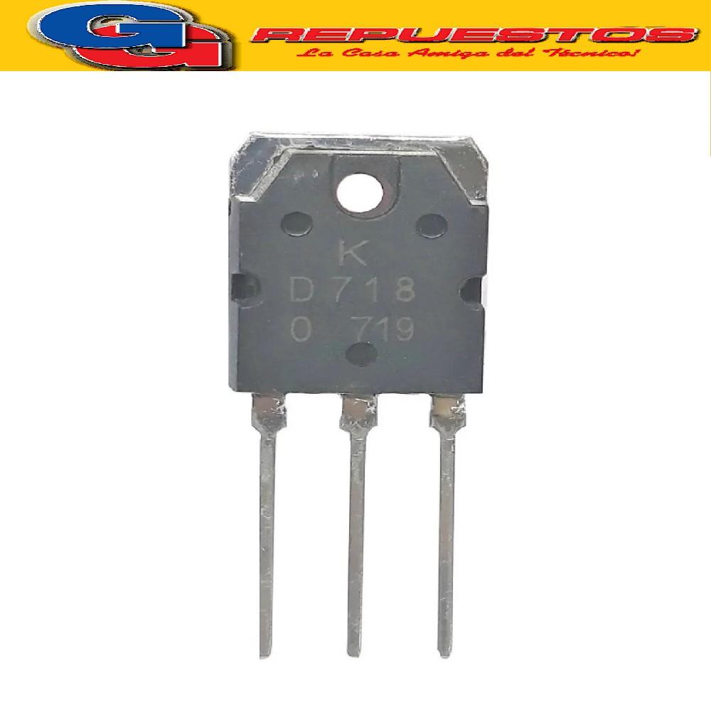 TRANSISTOR NPN 2SD718 (120V/8A/80W)