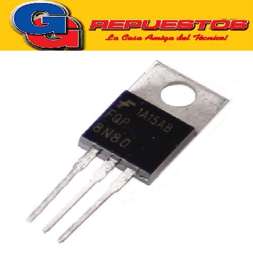 TRANSISTOR FET FQPF 8N80 (800V/8A/Rds=1.55R)