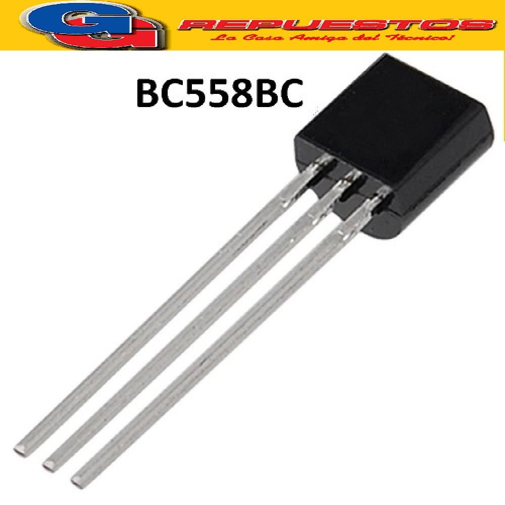 BC558BC TRANSISTOR  PNP (-30V/-200mA/625mW)
