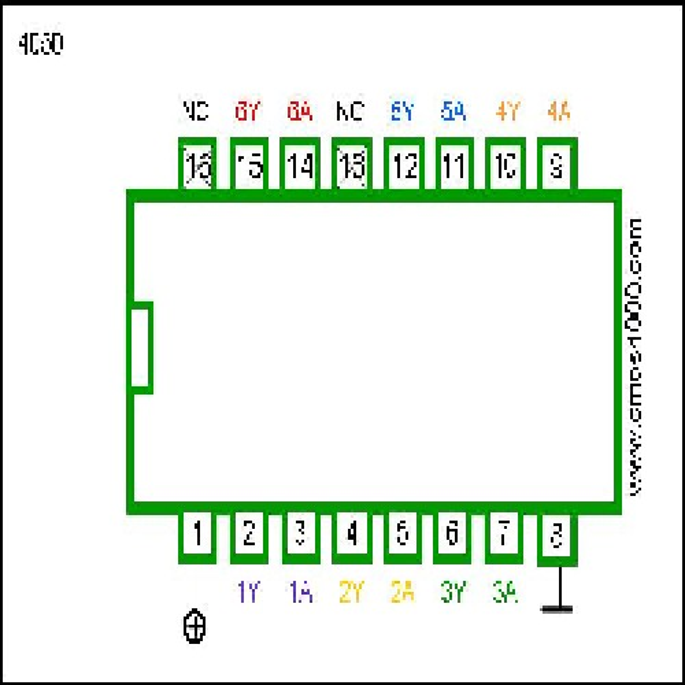 CIRCUITO INTEGRADO CD4050B HEX BUFFER NO INVERTIDO HD14050