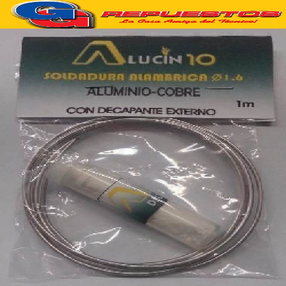 ALUCIN 10 SOLDADURA C/DECAPANTE EXTERNO  aluminio-cobre