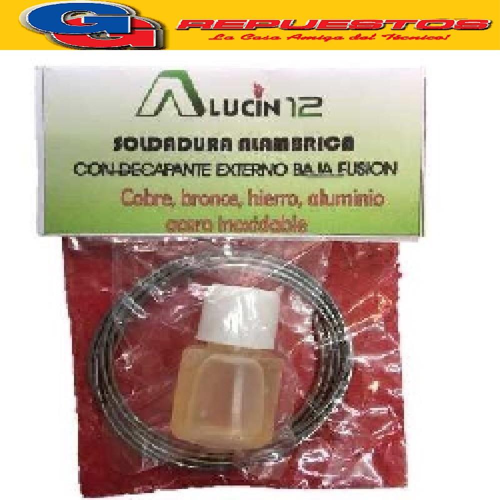 ALUCIN 12 SOLDADURA C/DECAPANTE EXTERNO Baja fusión alum-cobre-inox-bron-hierr