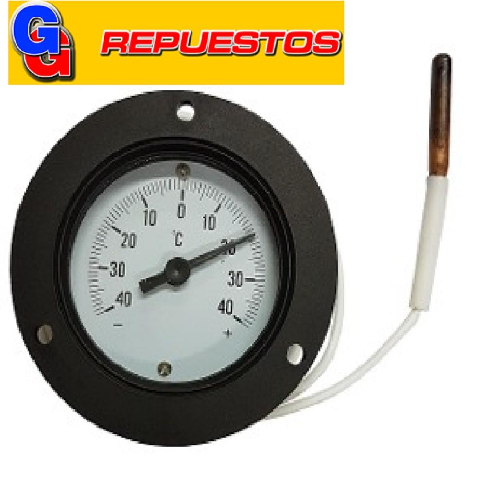 TERMOMETRO PARA TABLERO ANALOGICO 60MM LONG. 1.5M DISTANCIA:-40~+40ºC TJ2-1